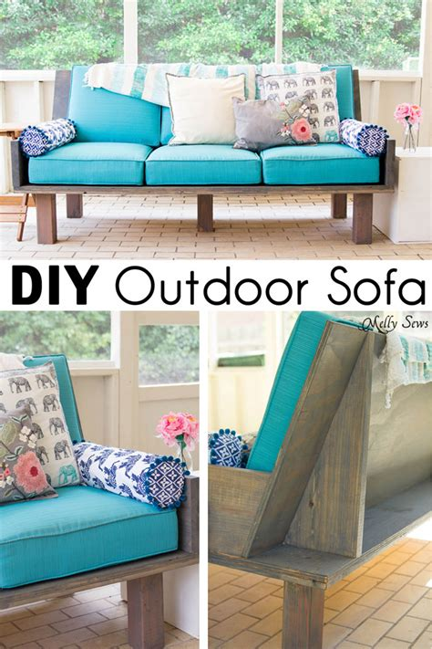 Repurpose Furniture Plywood Couch Build A Diy Outdoor Sofa Melly Sews