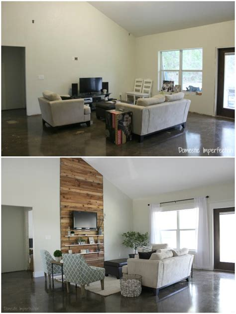 living room makeover before and after eric and kelsey s budget living room makeover domestic imperfection