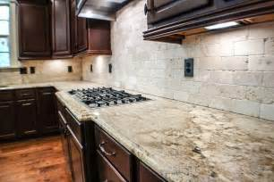 Ideas For Kitchen Backsplash With Granite Countertops Kitchen Stunning Average Kitchen Granite Countertop Ideas With Beige Granite Kitchen