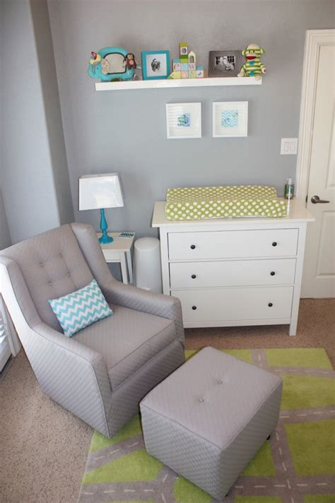 aqua gray green baby boy nursery grey modern gliders and project nursery