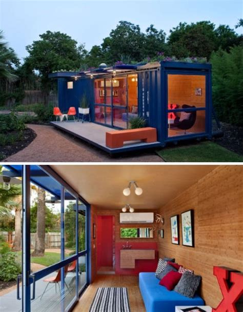 modern colorful and creative shipping container home in new uses for shipping containers in a postmodern world