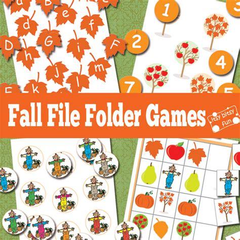 printable file folder games for kindergarten fall file folder games free file folder games file