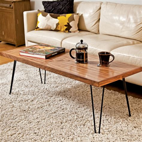 Hairpin Leg Coffee Table Design Considerations Homesfeed Coffee Table With Hairpin Legs
