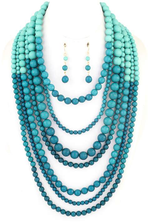 multi layered beaded necklace multi layered beaded necklace set necklaces