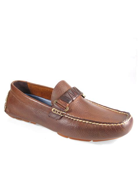 ralph loafers polo ralph tartlan leather loafers in brown for