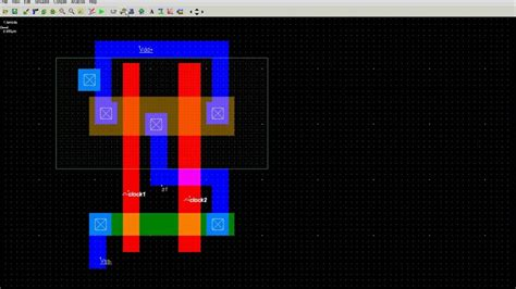 layout for nand gate how to draw 2 input nand gate layout in microwind youtube