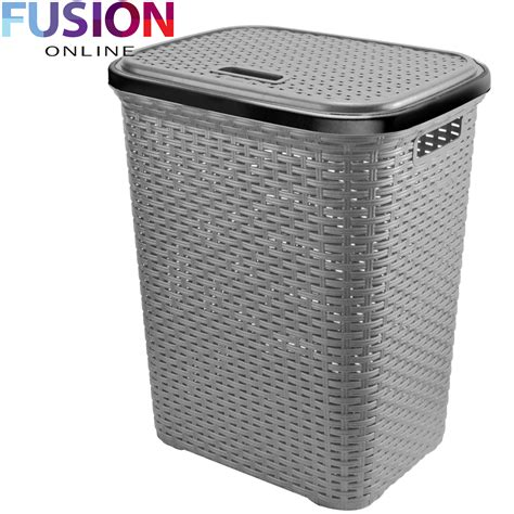 Large Laundry Basket Washing Clothes Storage Hamper Rattan Laundry Uk