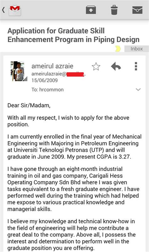 Contoh Application Letter Email Contoh Letter Email Bahasa Inggris Contoh Z