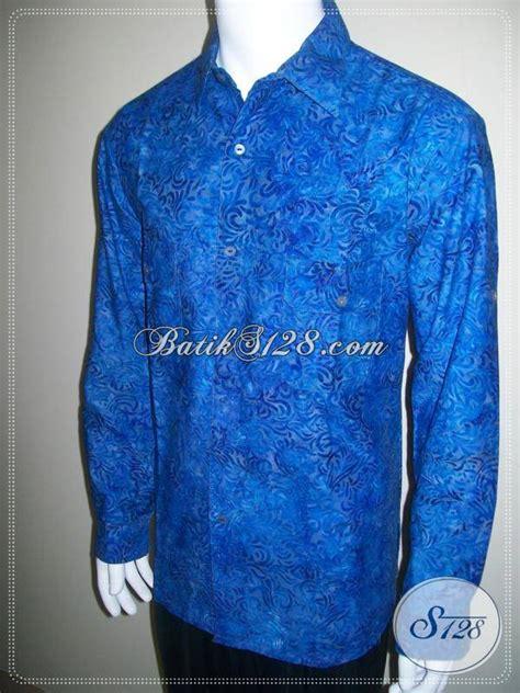 Busana Kasual Pria baju batik casual lengan panjang dilipat busana batik