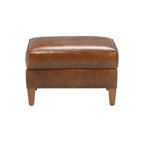 ethan allen leather chair and ottoman bryant leather ottoman ethan allen us furniture and