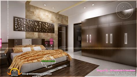 Arabic House Designs And Floor Plans by Awesome Master Bedroom Interior Kerala Home Design And