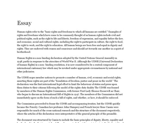 Human Rights In Malaysia Essay by 869 Words Essay On Human Rights Gcse Marked By Teachers