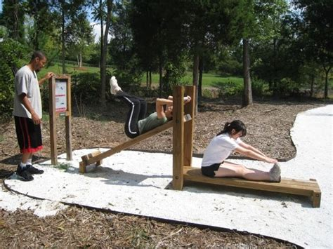 outdoor exercise equipment ideas  pinterest