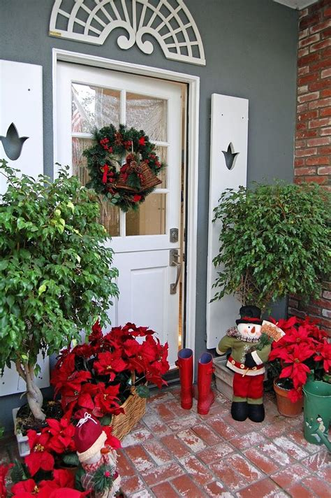 poinsettia on porch outdoor poinsettia decorations home design