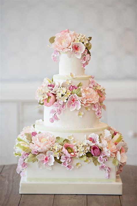 Flower Garden Cake Ideas Wedding Delightful Delicious Wedding Cake Decorations Chic Vintage Brides