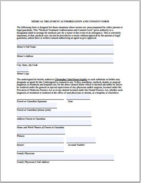 Sle Medical Authorization Form Templates Printable Medical Forms Letters Sheets Medication Authorization Form Template