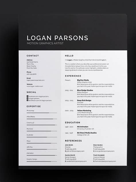 Amazing Resume Templates by 50 Awesome Resume Templates 2016