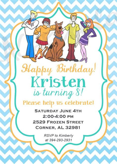 free printable birthday invitations scooby doo scooby doo birthday party invitation printable diy by