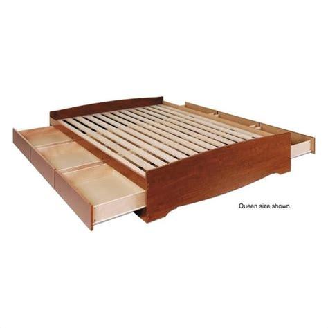 twin platform storage bed prepac monterey cherry twin platform storage bed ebay