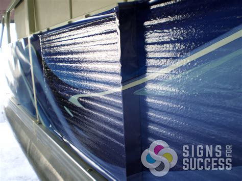 pontoon boat vinyl wraps watercraft signs for success