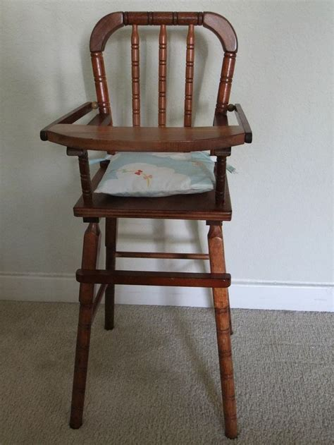 Wooden High Chairs For Babies by Vintage Wooden Baby High Chair