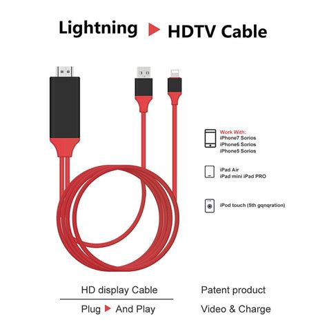Tongsis Mini Non Cable lightning to hdmi cable hdtv tv digital av adapter for apple iphone 5 6 7 plus ebay