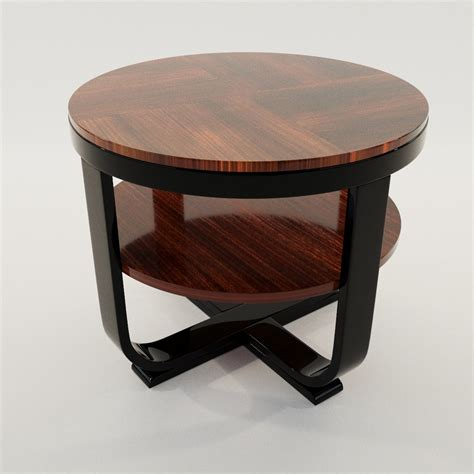 Deco Table L by Deco Coach Table 3d Realistic Model Artium3d