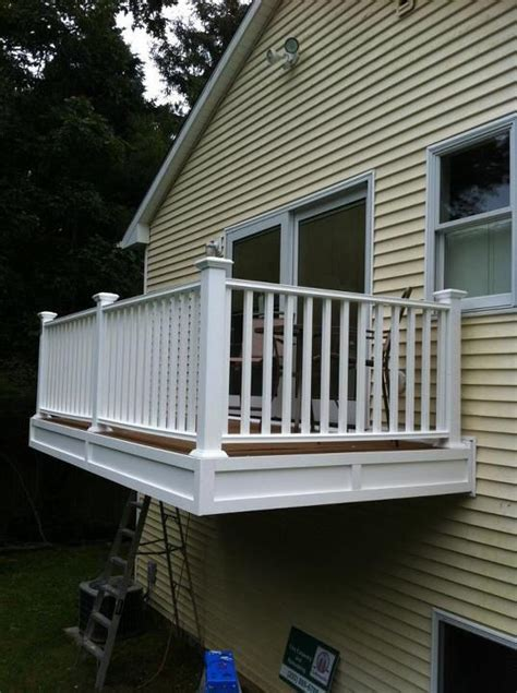 cantilevered porch deck balcony  master bedroom