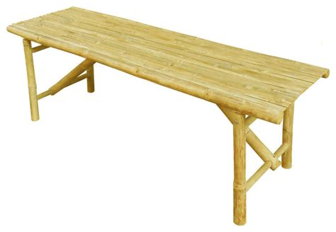 outdoor folding bench bamboo folding bench tropical outdoor benches by