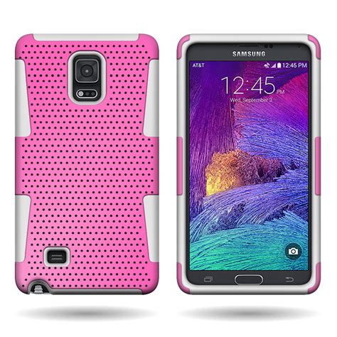 Top Samsung Galaxy Note 4 Bumper Armor Dual Layer Ful Diskon dual layer armor hybrid mesh texture phone cover for samsung galaxy note 4