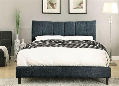 blue upholstered bed ennis dark blue twin upholstered panel bed cm7678bl t