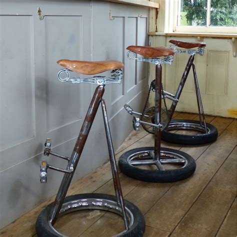 Bicycle Wheel Bar Stool bicycle wheel bar stool chair pedal chairs cool