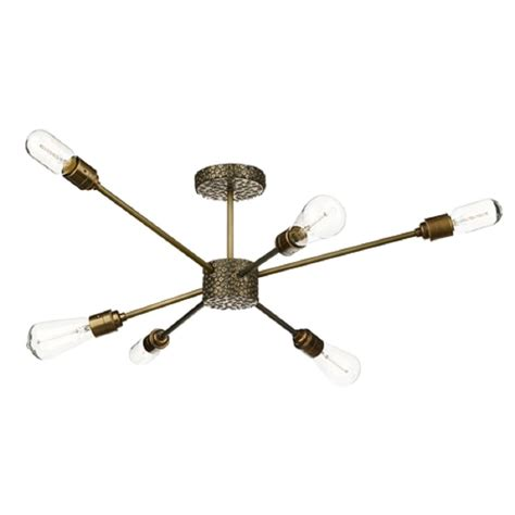industrial steunk style ceiling light fitting with
