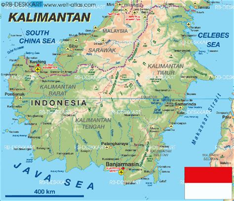 pulau kalimantan peta beautiful indonesia umm