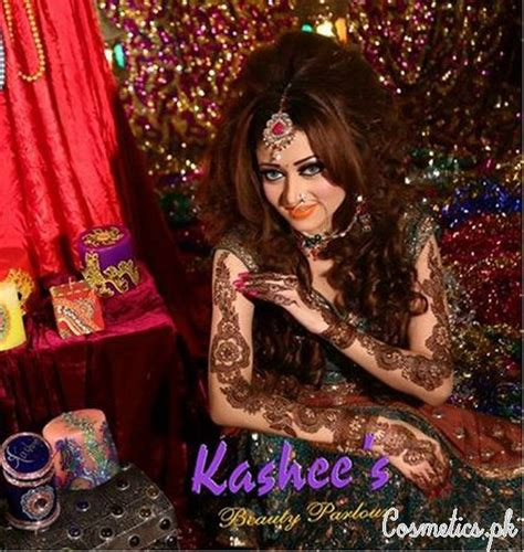 latest bridal mehndi and hairstyling by kashee s 2016