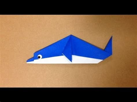 How To Make A Dolphin Out Of Paper - 簡単折り紙 イルカの折り方 origami dolphin easy