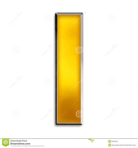 a i isolated letter i in shiny gold stock illustration image