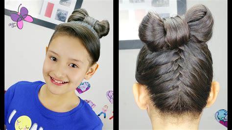 cute girl hairstyles youtube bow upside down braid hair bow hairstyles for girls cute