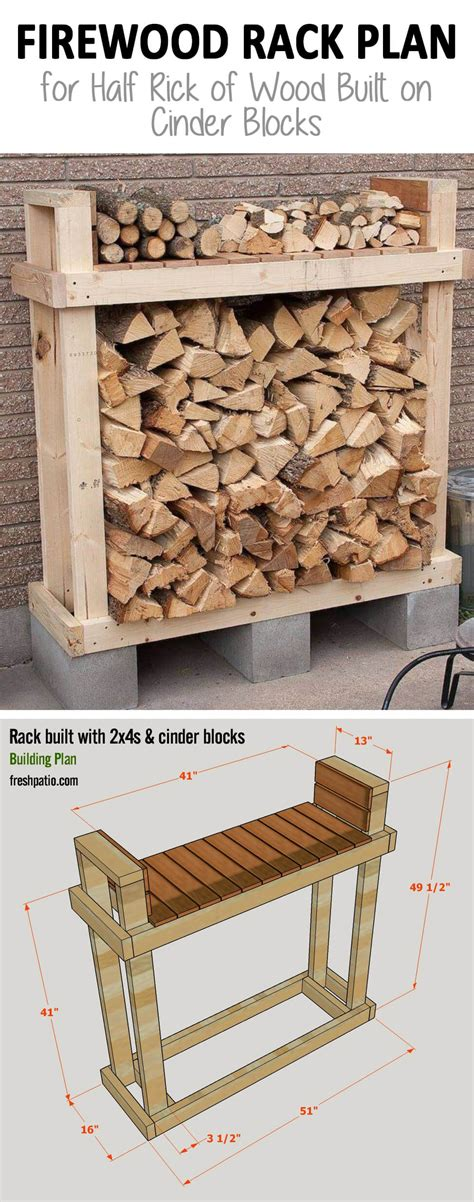 easy diy firewood rack 15 best diy outdoor firewood rack ideas and desigs for 2018