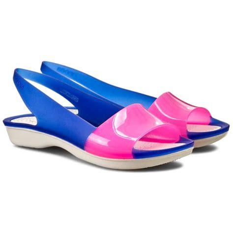 Crocs Colorblock Flat sandals crocs colorblock flat w 200032 cerulean blue