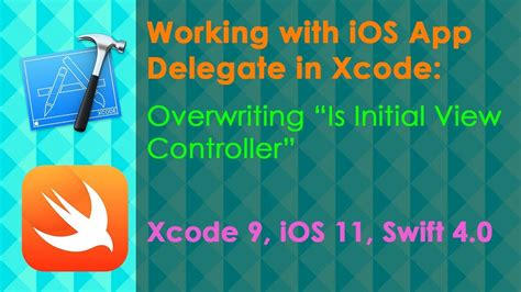 xcode delegate tutorial how to overwrite isinitialviewcontroller in appdelegate