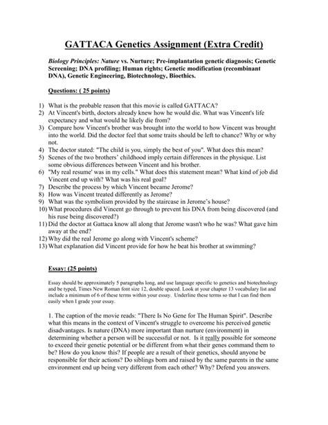 themes in gattaca essay gattaca essay genetic engineering genetic essay genetic