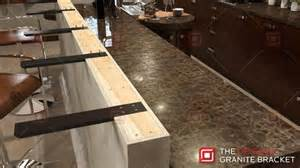 How Are Granite Countertops Attached by Knee Wall Countertop Support Bracket The Original