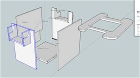 cocktail arcade cabinet plans designing a custom arcade cabinet in sketchup tested