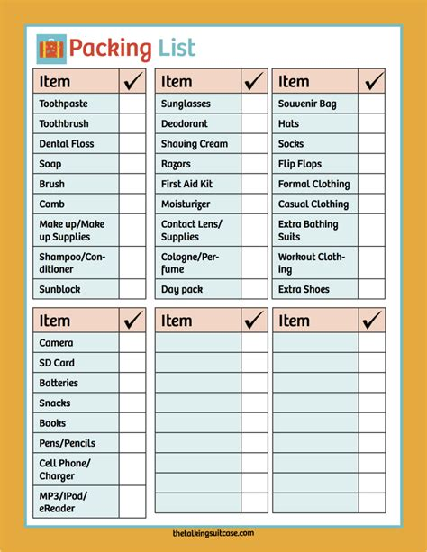 printable cruise travel checklist printable cruise planner