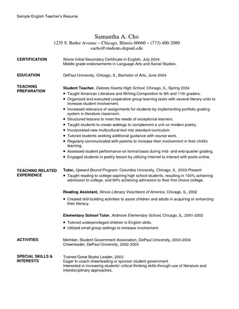 sle school resume cover letter sle resume for school 28 images sle resume uk cover