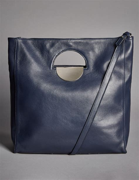 Autograph Leather Frame Bag From Marks Spencer by Leather Dolly Shopper Bag Endource