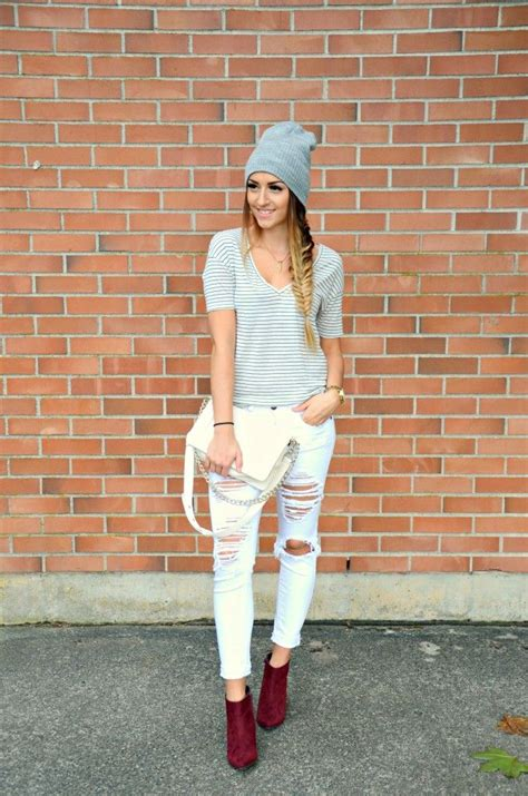 casual hairstyles with jeans fall fashion beanie braid hairstyle casual look