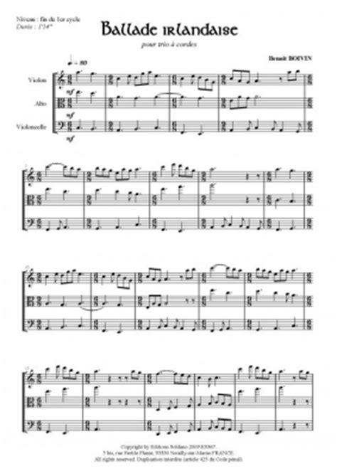 0001128876 trio clarinette ensemble de partitions partition ballade irlandaise violon alto violoncelle