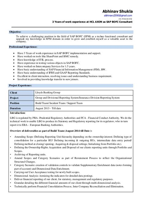 100 sap fico sle resume 3 years experience fresh accounting graduate cover letter benefits